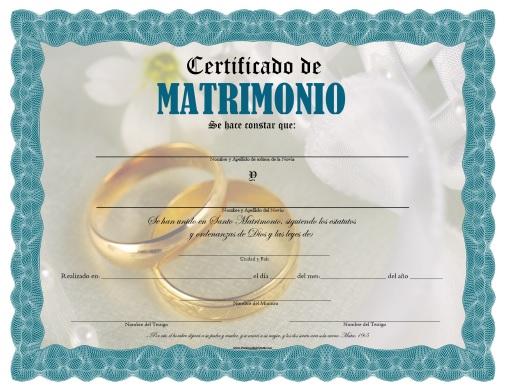 Certificado De Matrimonio Para Imprimir Gratis Paraimprimirgratis Com