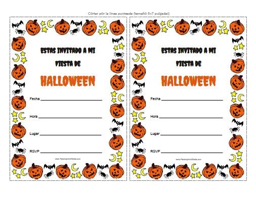 Invitaciones de Halloween para Imprimir