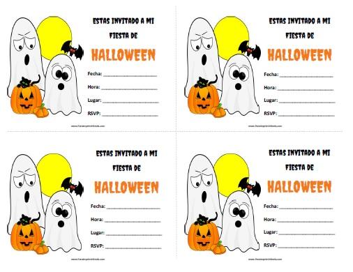 Invitaciones Fiesta de Halloween - Para Imprimir Gratis ...